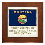 Montana Proud Citizen Framed Tile