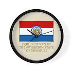 Missouri Proud Citizen Wall Clock
