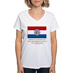 Missouri Proud Citizen Women's V-Neck T-Shirt
