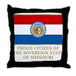 Missouri Proud Citizen Throw Pillow
