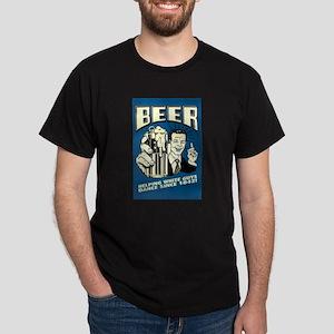 Beer Helping White Guys Dance Dark T-Shirt