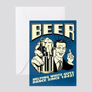Beer Helping White Guys Dance Greeting Card