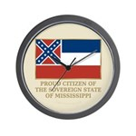 Mississippi Proud Citizen Wall Clock