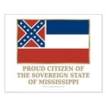 Mississippi Proud Citizen Small Poster