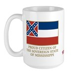 Mississippi Proud Citizen Large Mug
