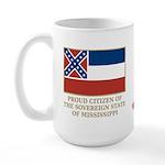 Mississippi Proud Citizen Large Mug