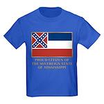 Mississippi Proud Citizen Kids Dark T-Shirt