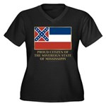 Mississippi Proud Citizen Women's Plus Size V-Neck