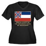 Mississippi Proud Citizen Women's Plus Size V-Neck