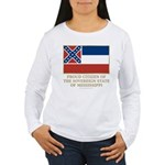 Mississippi Proud Citizen Women's Long Sleeve T-Sh