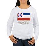 Mississippi Proud Citizen Women's Long Sleeve T-Sh