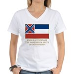 Mississippi Proud Citizen Women's V-Neck T-Shirt