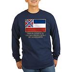 Mississippi Proud Citizen Long Sleeve Dark T-Shirt