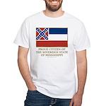 Mississippi Proud Citizen White T-Shirt