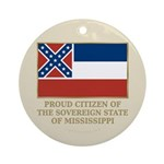 Mississippi Proud Citizen Ornament (Round)
