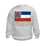 Mississippi Proud Citizen Kids Sweatshirt