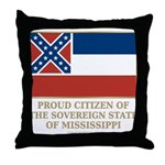 Mississippi Proud Citizen Throw Pillow