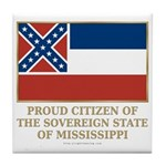 Mississippi Proud Citizen Tile Coaster