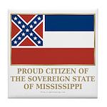 Mississippi Proud Citizen Tile Coaster