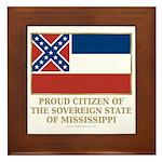 Mississippi Proud Citizen Framed Tile