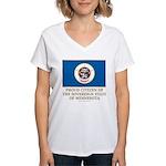Minnesota Proud Citizen Women's V-Neck T-Shirt