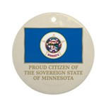 Minnesota Proud Citizen Ornament (Round)