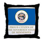 Minnesota Proud Citizen Throw Pillow
