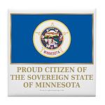 Minnesota Proud Citizen Tile Coaster