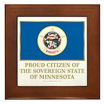 Minnesota Proud Citizen Framed Tile