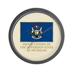 Michigan Proud Citizen Wall Clock