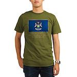 Michigan Proud Citizen Organic Men's T-Shirt (dark