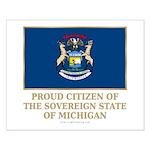 Michigan Proud Citizen Small Poster