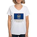 Michigan Proud Citizen Women's V-Neck T-Shirt