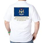 Michigan Proud Citizen Golf Shirt