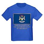 Michigan Proud Citizen Kids Dark T-Shirt