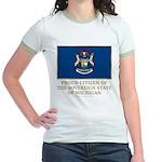 Michigan Proud Citizen Jr. Ringer T-Shirt
