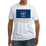 Michigan Proud Citizen Fitted T-Shirt