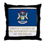 Michigan Proud Citizen Throw Pillow