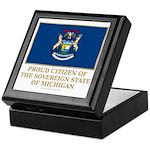 Michigan Proud Citizen Keepsake Box