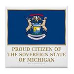 Michigan Proud Citizen Tile Coaster