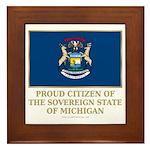 Michigan Proud Citizen Framed Tile