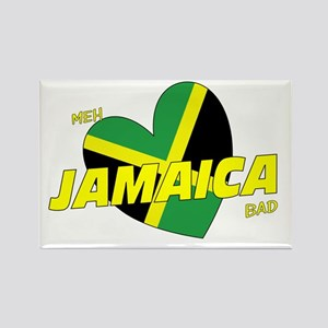 Meh love Jamaica bad Rectangle Magnet