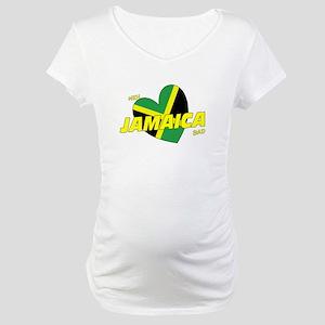 Meh love Jamaica bad Maternity T-Shirt