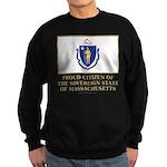 Massachusetts Proud Citizen Sweatshirt (dark)