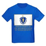 Massachusetts Proud Citizen Kids Dark T-Shirt