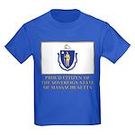 Massachusetts Proud Citizen Kids Dark T-Shirt