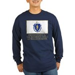 Massachusetts Proud Citizen Long Sleeve Dark T-Shi