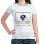 Massachusetts Proud Citizen Jr. Ringer T-Shirt