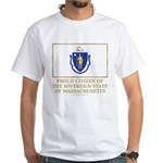 Massachusetts Proud Citizen White T-Shirt
