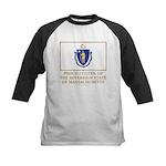 Massachusetts Proud Citizen Kids Baseball Jersey